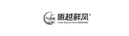 瓯越鲜风logo黑白